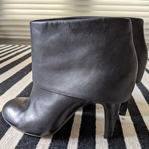 ASH opium black leather booties size 38